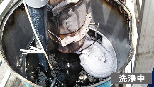 ディーゼル微粒子捕集フィルター(DPF・DPR・DPD)洗浄中