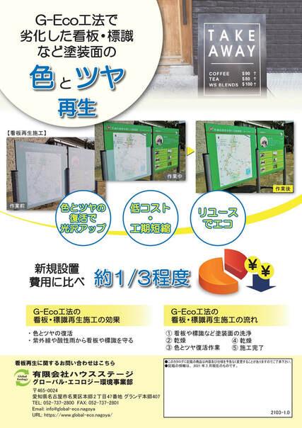 G-Eco工法の看板・標識再生施工